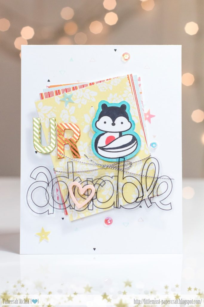 U R Adorable Skunk Card by Taheerah Atchia