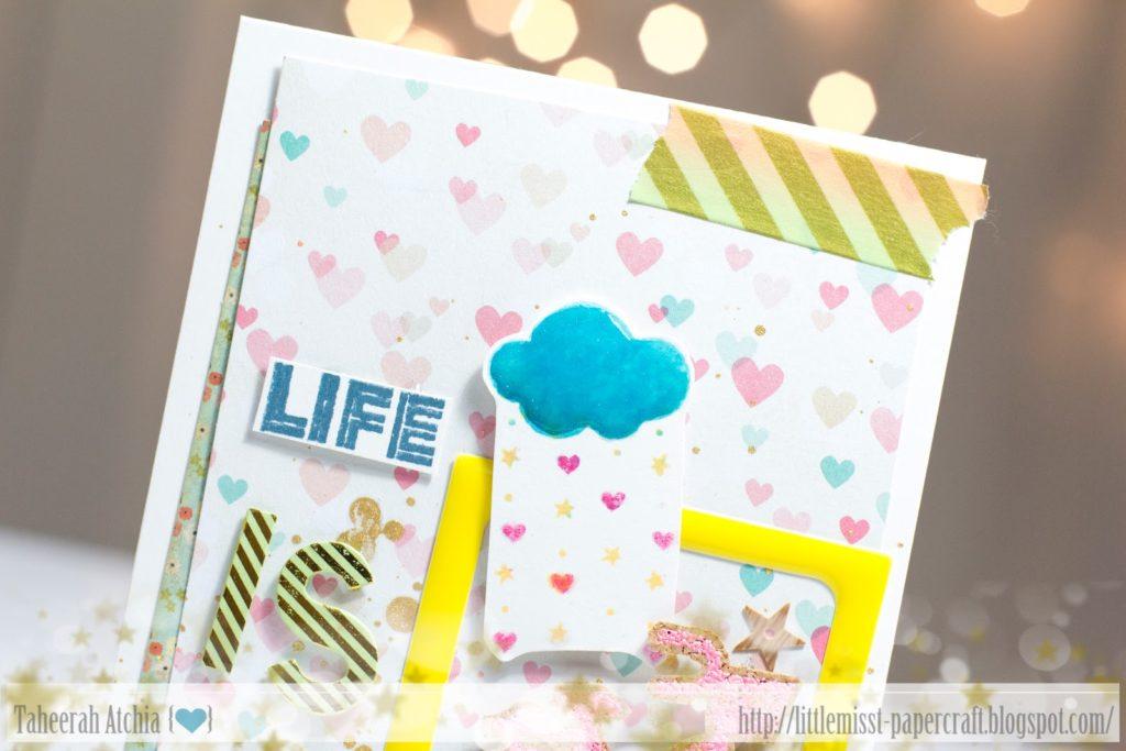 Life is Beautiful Bicycle Card by Taheerah Atchia