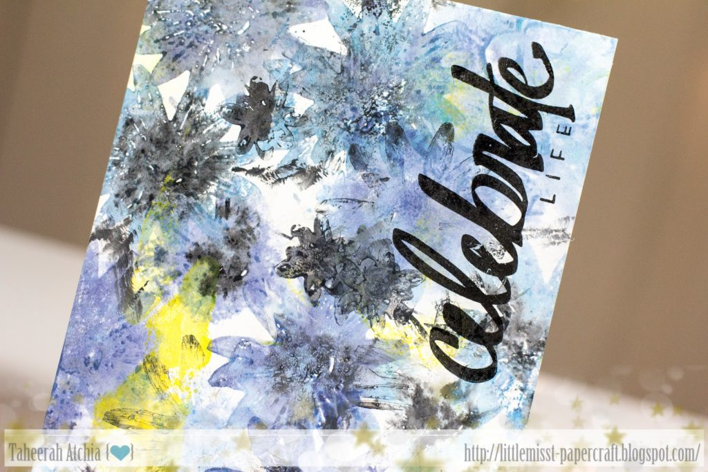 Celebrate Life Abstract Floral Sympathy Card by Taheerah Atchia.jpg