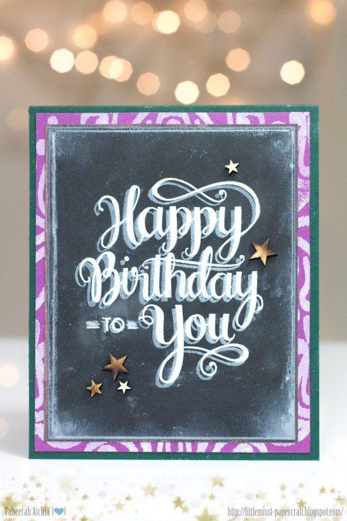 Chalkboard Birthday card by Taheerah Atchia