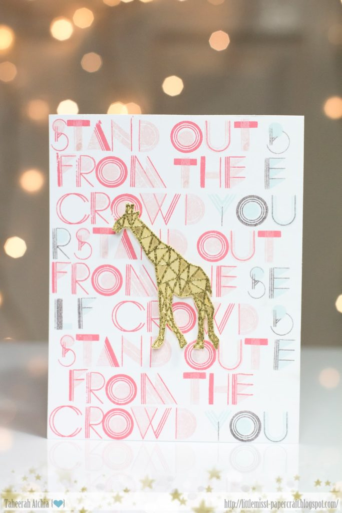 Stand Out From The Crowd Inspiration Art by Taheerah Atchia