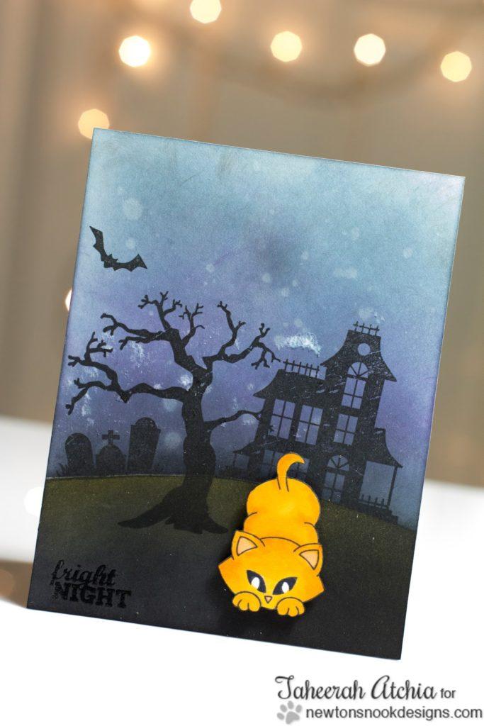 Fright Night Halloween Kitty card by Taheerah Atchia