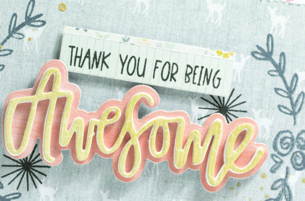 Thanks For Being Awesome Card by Taheerah Atchia